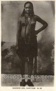 Sudanese Girl , Khartoum African Nude Nudes Postcard Post Card  Sudanese Girl...