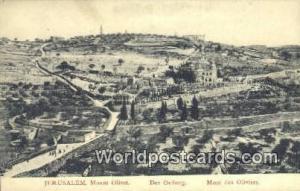 Jerusalem, Israel Mount Olivet, Der Oelberg Mount Olivet, Der Oelberg