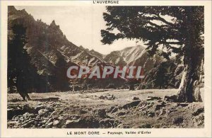 Old Postcard Le Mont Dore Landscape Valley of Hell