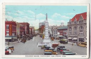 P638 JLs 1932 monument sq state st. new london conn old cars buses etc