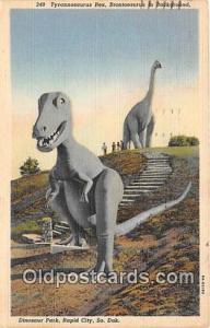 Tyrannosaurus Rex Rapid City, South Dakota, USA Postcards Post Cards Old Vint...