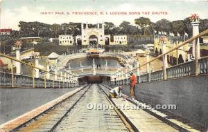 Providence, Rhode Island, RI, USA Postcard Vanity Fair Looking down the Chute...