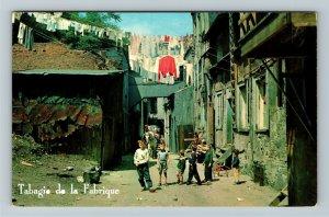 Quebec- Canada, Quaint Scene Lower Town, Street View, Chrome Postcard