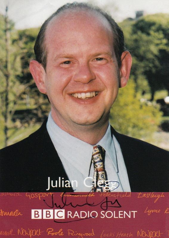 Julian Clegg Most Haunted Live BBC Ghost Show Radio Solent Hand Signed Photo