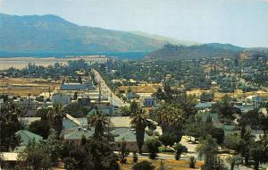 Elsinore California panoramic birds eye view of town vintage pc Z16961
