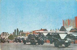 Military parade Romania missiles military publishing postcard c.1962