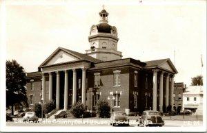 Vtg Postcard 1940s RPPC Lauderdale County Court House Florence Alabama AL UNP