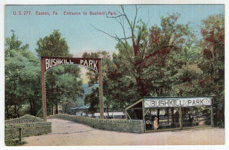 Easton, Pa, Entrance to Bushkill Park