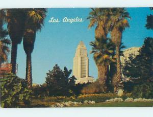 Unused Pre-1980 CITY HALL SCENE Los Angeles California CA hs5758