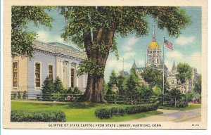 Hartford, CT - State Capitol from State Library - 1939