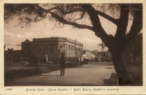 argentina, BAHIA BLANCA, Avenida Colón, Banco Español (1920s)