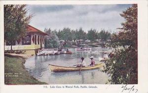 Canoe, Lake Clara In Mineral Park, Pueblo, Colorado, 1910-1920s