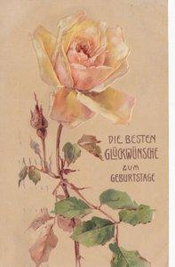 BIRTHDAY ; Yellow Rose , 1910