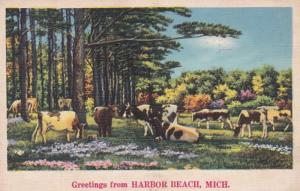 Michigan Greetings From Harbor Beach 1938