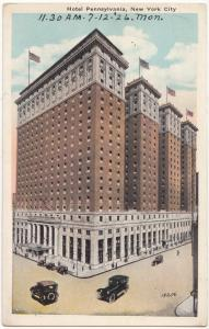 Hotel Pennsylvania, New York City, 1926 used Postcard