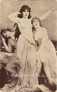 Nude Postcard Sirens by Paul Thuman Unused