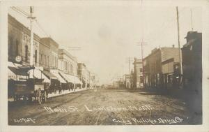 1908-1920s Real Photo Postcard; Main Street, Lewistown, MT, Fergus Co. Unposted