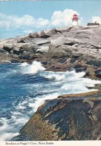 Lightouse and Breakers At Peggy's Cove Nova Scotia Canada