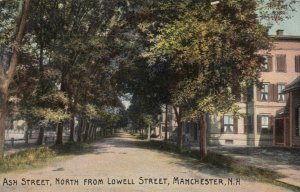 MANCHESTER, New Hampshire, PU-1912; Ash Street, North from Lowell Street