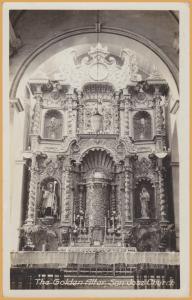 RPPC - Holguin, Cuba - The Golden Alter, San Jose Church - 1933