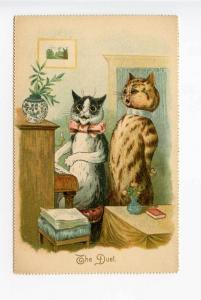 Raphael Tuck Louis Wain Cats The Duet Postcard