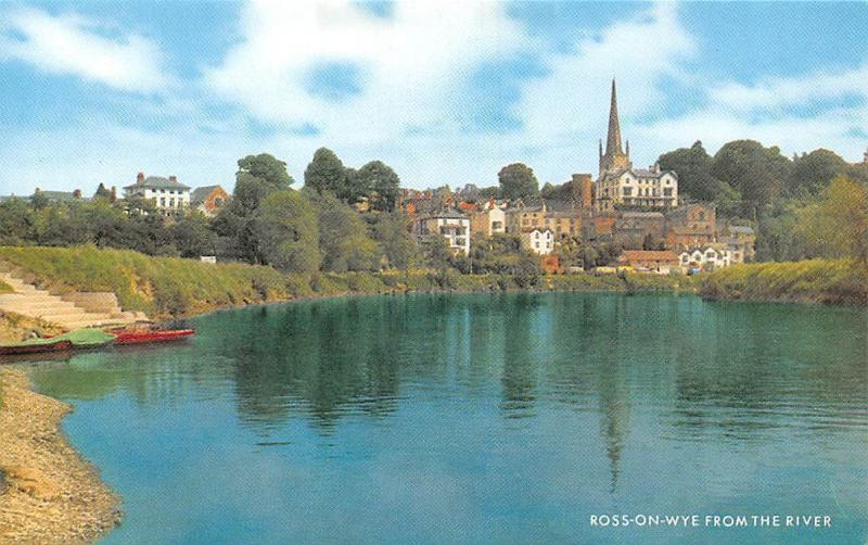 Ross on Wye from The River Boats Bateaux Panorama