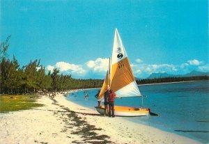 Mauritius Mon Choisy postcard boat