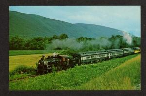 VT Vermont Railway Railroad Train Green Mtns nr Danby Vermont Postcard PC RR