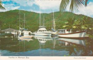 Yachts in Marigot Bay, Saint Lucia, Caribbean, Antilles, 50-70's