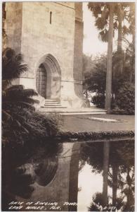 Base of Singing Tower, LAKE WALES, Florida, 30-40s
