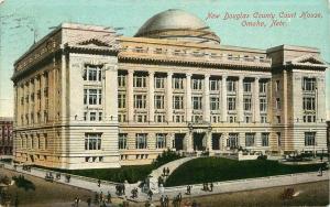 1912 POSTCARD NEW DOUGLAS COUNTY COURT HOUSE OMAHA NEBRASKA NE