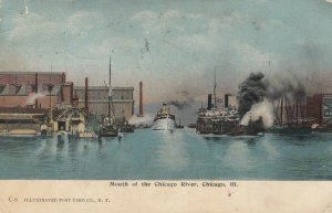 CHICAGO , Illinois , 1908 ; Mouth of the Chicago River