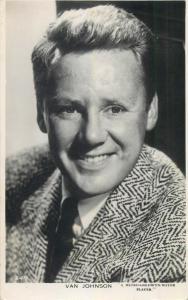 Van Johnson cinema star actor photo postcard