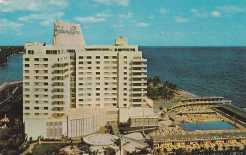 Swimming Pool, Eden Roc Hotel, Cabana, And Yacht Club, Miami Beach, Florida, ...