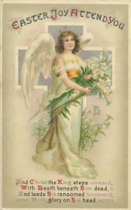 Easter joy angel fantasy postcard