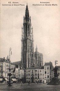 Cathedrale et Grand Place,Antwerp,Belgium BIN