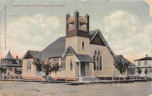 C41/ Casper Wyoming Wy Postcard 1910 Gantz Memorial M.E. Church Building