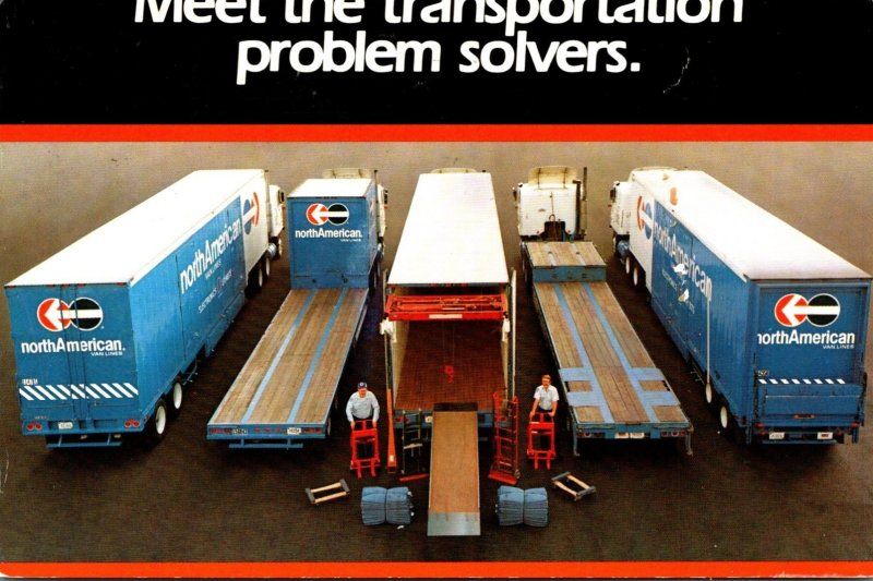 Advertising Semi Trucks North American Van Lines 2001