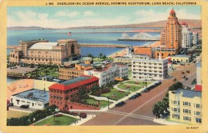 Postcard Overlooking Ocean Avenue Long Beach California