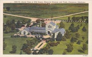 Aerial View Of Will Rogers Memorial Museum And Tomb Claremore Oklahoma