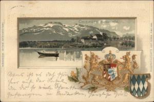 Chiemsee Herreninfel - Germany- Gold Crest c1900 Postcard