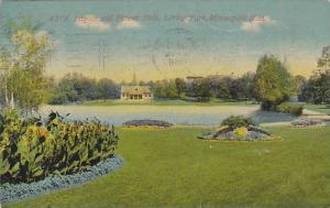 Lagoon and Flower Beds, Loring park, Minneapolis, Minnesota, PU-00-10s