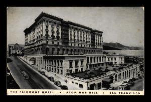 FAIRMONT HOTEL NOB HILL SAN FRANCISCO CALIFORNIA