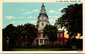 Maryland Annapolis State Capitol Building Curteich