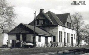 Kodac Paper -PRR Depot, Warsaw, IN, Indiana, USA Train Railroad Station Depot...