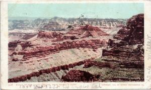 Walls of the Grand Canyon from Bissel's Point - © 1899 - Posted 1907