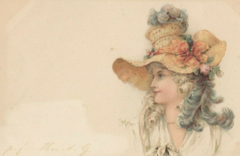 Victorian woman in a hat , 1901-07