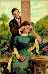 VTG Postcard Valentine Romantic Humor 1908 Jersey City New Jersey New York 1865