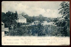 h2119 - CZECHIA Loucen Postcard 1910s Castle Panoramic View