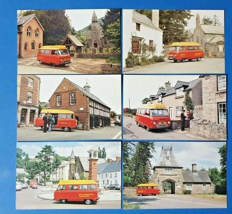 Set of 6 Post Office Royal Mail Postcards WMPB Commer Post Bus BP7